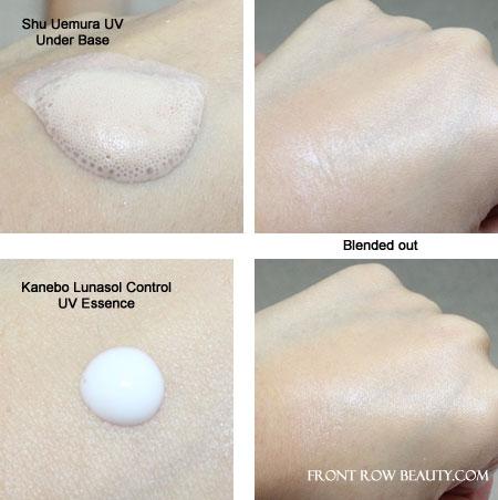 kanebo-lunasol-shu-uemura-makeup-base-swatches