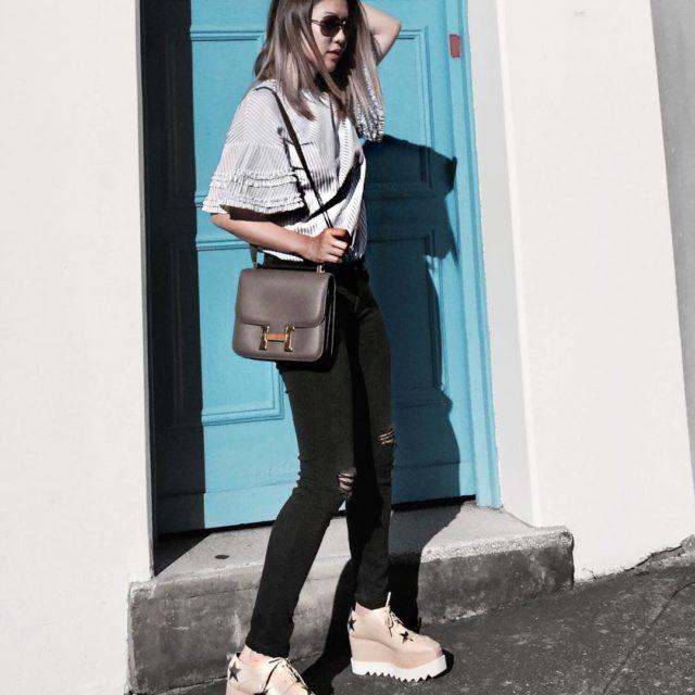 #shoesoftheday my super funky #stellamccartneyelyse (details on the blog) #mylook #luxuryfashion #hermes #hermesconstance #hermesetain #hermesbag #hermeslover #whatiwear #ootd #fashionlook #hermeslover