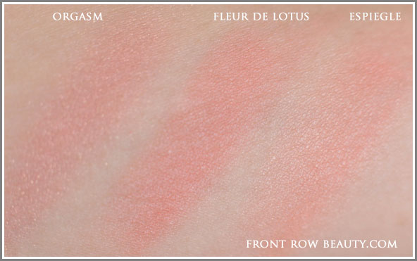 chanel-joues-contraste-powder-blush-fleur-de-lotus-nars-orgasm-espiegle-swatches