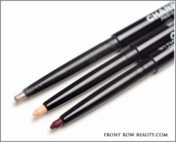 chanel-stylo-yeux-waterproof-eyeliner-beige-clair-grenat-rose-platine-swatches
