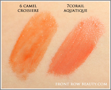 ysl-rouge-pur-couture-glossy-stain-6-camel-croisiere-7-corail-aquatique-swatches