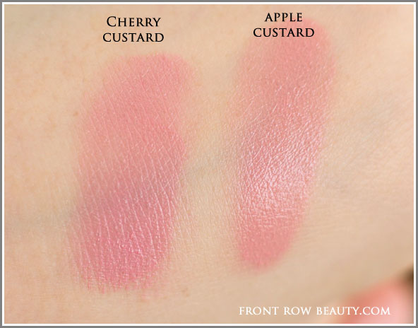jill-stuart-patisserie-collection-custard-lip-pot-01-cheery-02-apple-custard-swatches