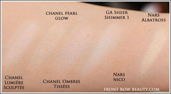 chanel-pearl-glow-illuminating-powder-comparison-swatches