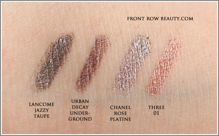 lancome-Crayon-Kohl-015-Jazzy-Taupe-urban-decay-underground-chanel-rose-platine-three-01-comparison-swatches