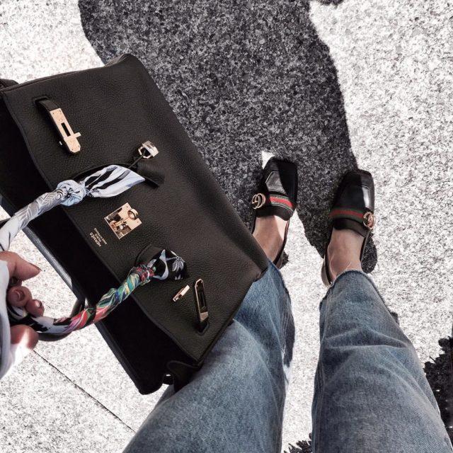 Just a #bagfie #hermès #hermesbirkin #birkinblack #hermesbirkinblack #hermesbag #hermeslover #gucci #gucciloafers