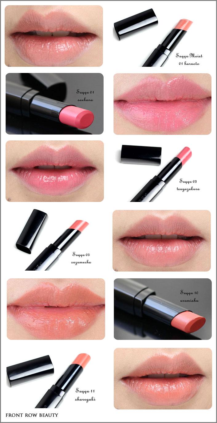suqqu-creamy-glow-lipsticks-moist-swatches-01-03-05-10-11-18-swatches-2