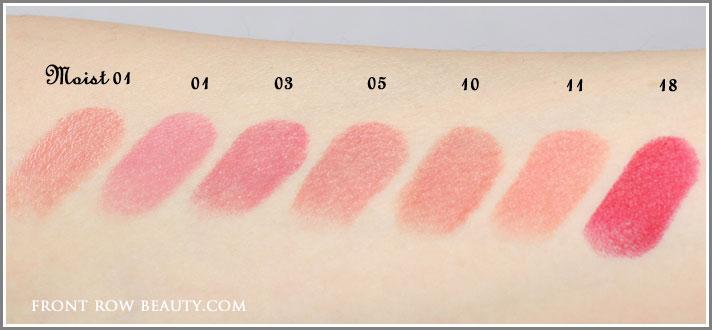 suqqu-creamy-glow-lipsticks-moist-swatches-01-03-05-10-11-18-swatches