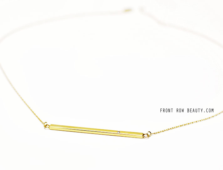 Jennifer-Zeuner-Horizontal-Bar-Necklace-with-diamond-review-ootd-2