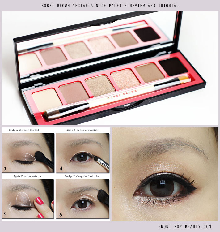 Bobbi Brown Nectar and Nude Eye Palette Review, Swatch and Eye Makeup Tutorial