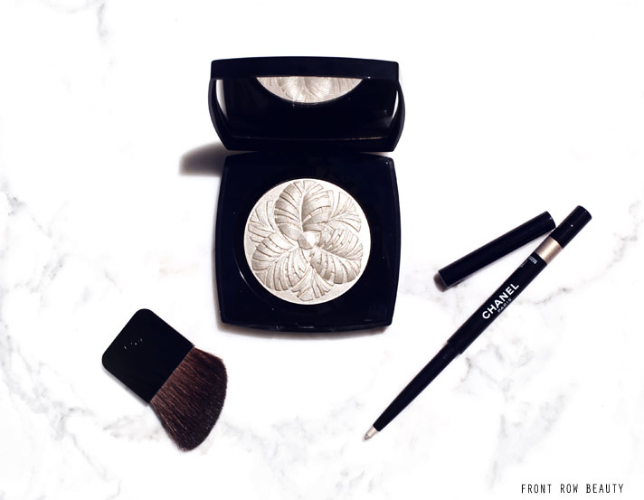 Chanel Holiday 2014 Collection – Camelia De Plumes Highlighting Powder and Stylo Yeux Eyeliner Or Blanc Review and Swatches