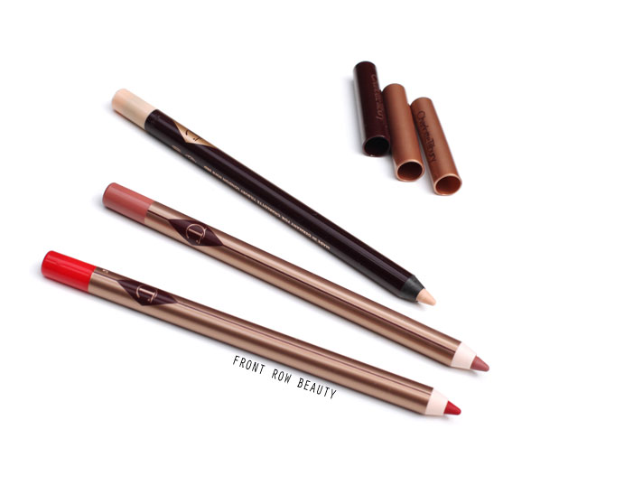 Charlotte Tilbury Lip Cheat Lip Liners and Liquid Eye Pencil Review and Swatch – Kiss n Tell, Pink Venus, Eye Cheat