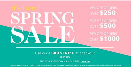 SHOPBOP BIG EVENT SALE Information!
