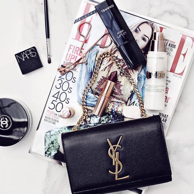 #motd #flatlay #elleaus #beautyflay #luxurybeauty #bblogger #ysl #yslbag #chanelbeauty