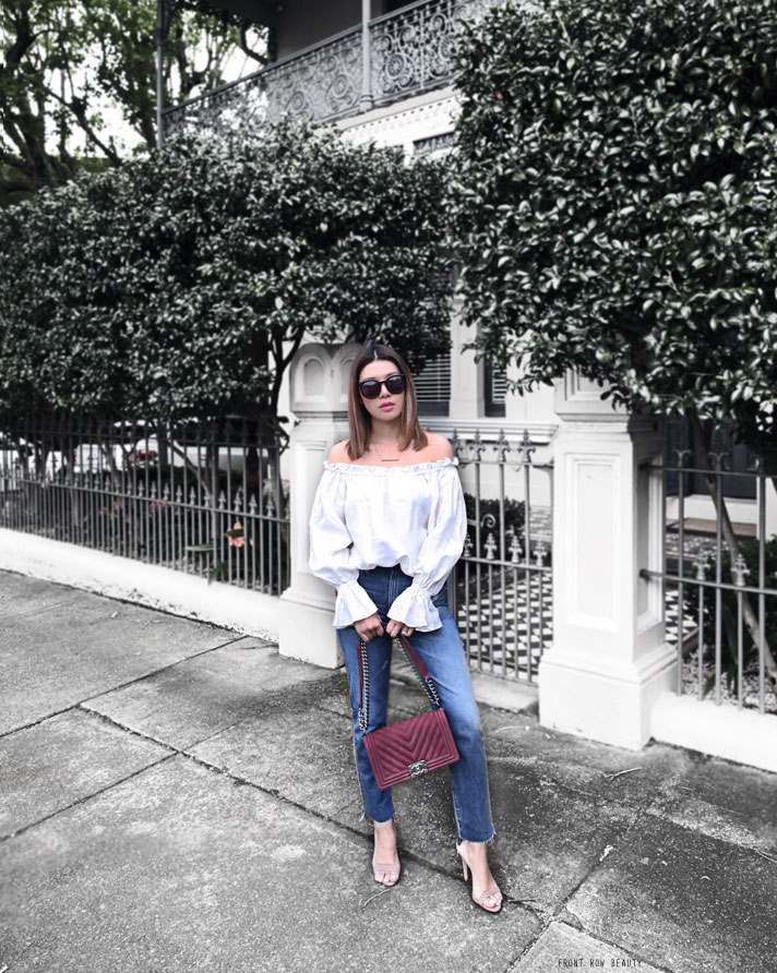 ag-phoebe-high-waisted-jeans-ootd-chanel-boy-bag-plum-suede-2