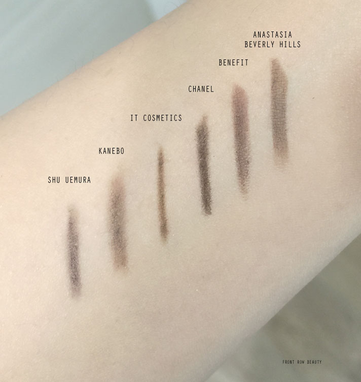 best-eye-brow-pencils-chanel-anastasia-beverly-hills-benefit-it-cosmetics-shu-uemura-kanebo-review-swatch-4