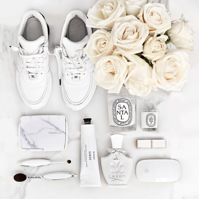 Purity #flatlay #beautyflay #chanel #chanelsneakers #bblogger #luxe