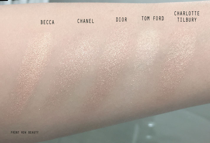 best-highlighter-powder-tom-ford-charlotte-tilbury-chanel-dior-becca-review-comparison-swatch-2