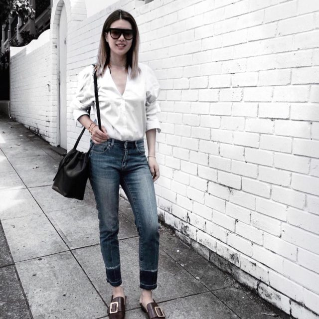 Casual Monday #ootd #whatiwear #celinesunglasses #mansurgavrielbucketbag #mansurgavriel #bally #ballyshoes #luxuryfashion