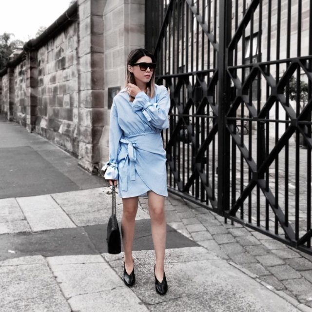 #ootd Dress by #stylenanda It is a cute shirt dress but the fitting and quality are not for me For…