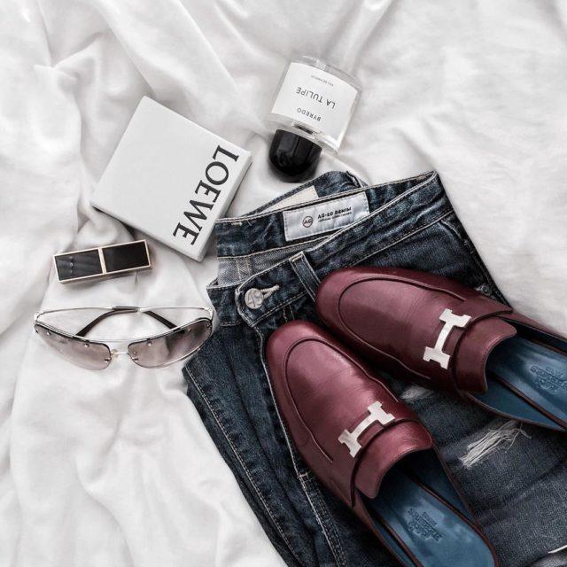 #details ... ... #hermes #hermesparadismule #hermesshoes #hermeslover #luxuryfashion #luxe #fashionlover #loewe #byredo