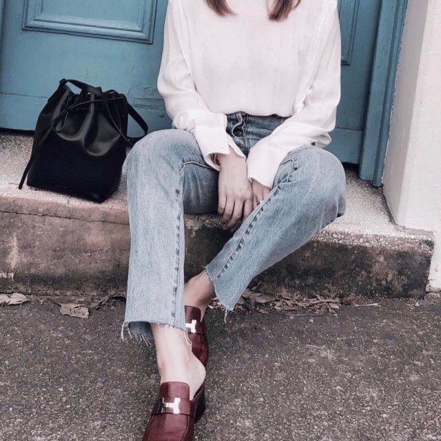 #details #shoeoftheday #hermès #hermeslover #hermesmules #hermesaddict #luxe #instastyle #luxuryfashion #mansurgavriel #mansurgavrielbucketbag