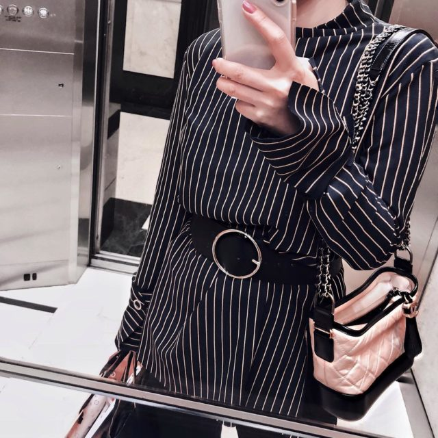 Practicing how to take a #liftselfie under 20 seconds without being caught by work colleagues #lookoftheday #workattire #instastyle #chanellover #chanelgabriellebag…